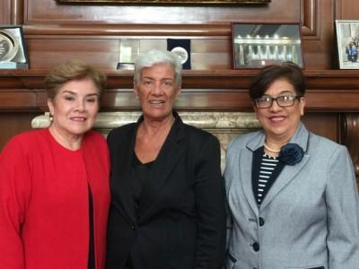 Inocencia Alfonzo de Barreto, Mónica Pinto e Irma Alfonzo de Bogarín