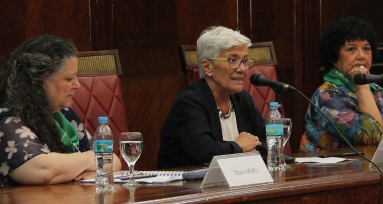 Diana Maffía, Mónica Pinto y Dora Barrancos