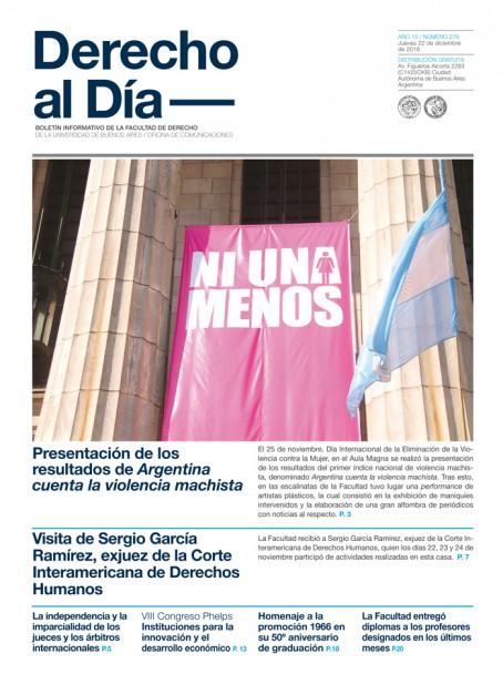 Tapa de Derecho al Día - Edición 279