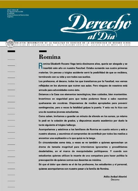 Tapa de Derecho al Día - Edición 28
