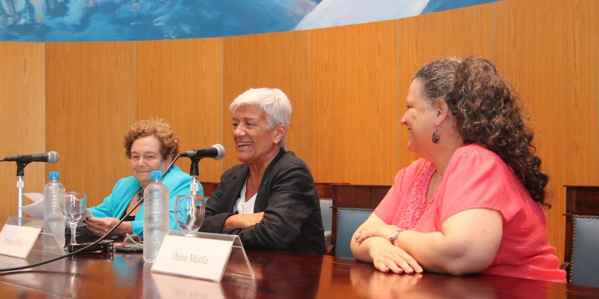 Stella Maris Martínez, Mónica Pinto y Diana Maffía