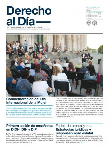 Tapa de Derecho al Día - Edición 280