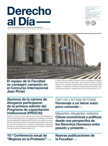 Tapa de Derecho al Día - Edición 281