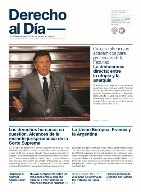 Tapa de Derecho al Día - Edición 282