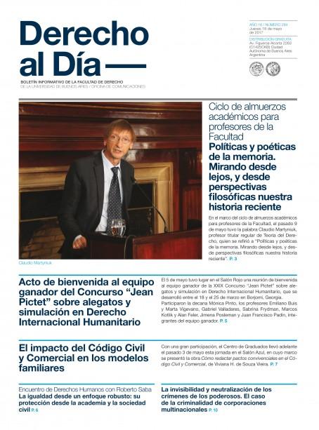 Tapa de Derecho al Día - Edición 284