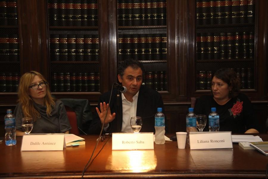 Dalile Antunez, Roberto Saba y Liliana Ronconi