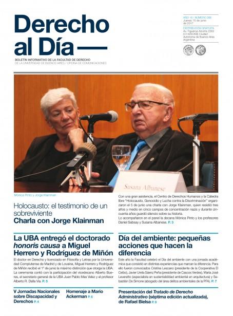 Tapa de Derecho al Día - Edición 286