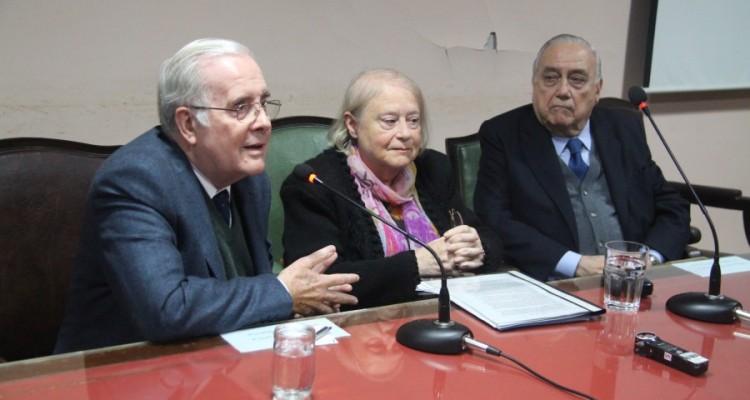 Tulio Ortiz, María Rosa Pugliese y José María Díaz Couselo