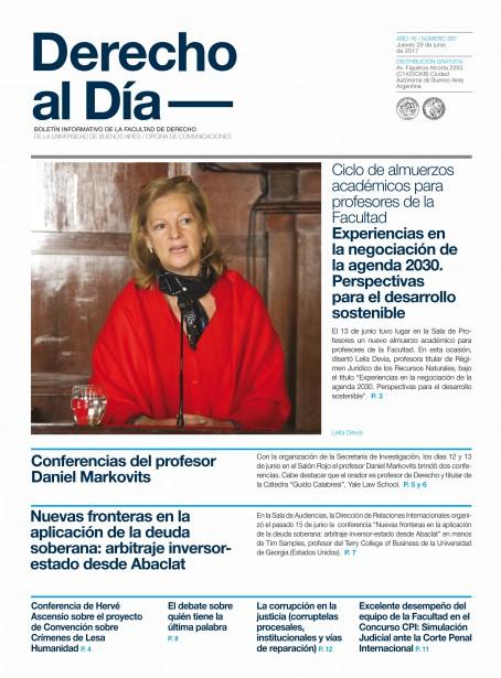 Tapa de Derecho al Día - Edición 287