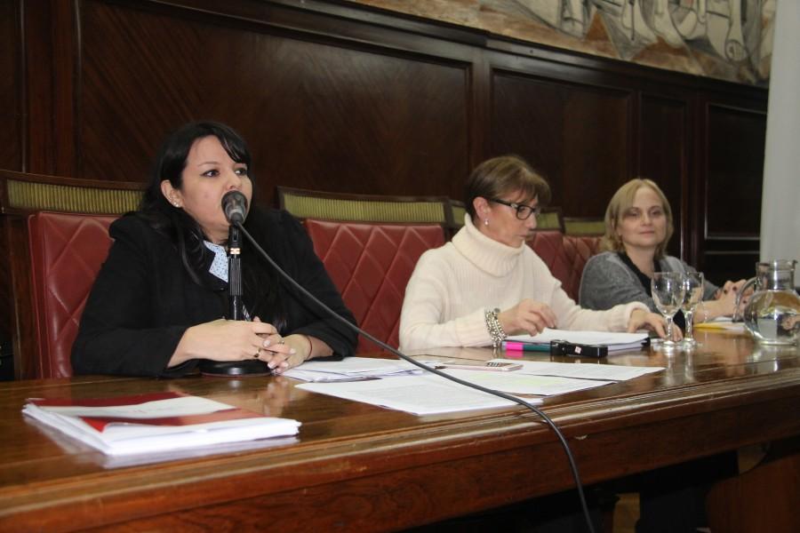 Julia Gómez, Graciela Stasevich y Ana Rojas de Anezín