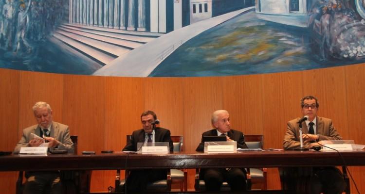 Augusto Pérez Lindo, Santiago Cantón, Jorge C. Berbere Delgado y Eduardo Butori