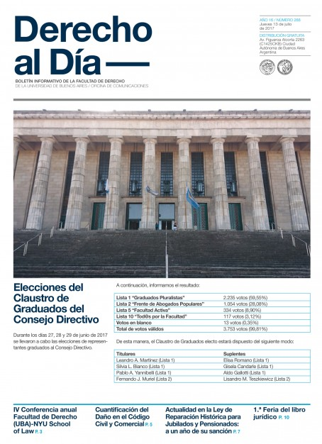 Tapa de Derecho al Día - Edición 288