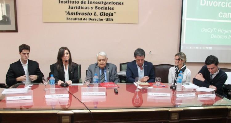 Cristian Ragucci, Silvina Munilla, José Bielecki, Marcelo Calabrese, Ma. A. Navarro Lahitte y Lucas Bellotti San Martin