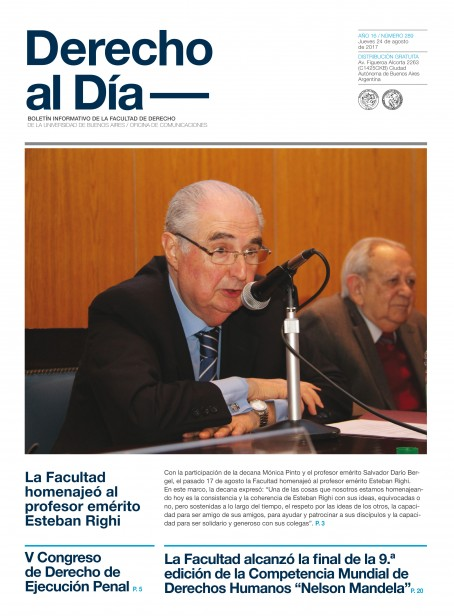 Tapa de Derecho al Día - Edición 289