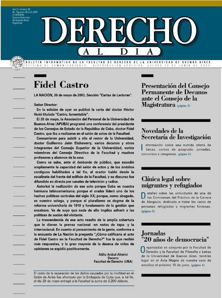 Tapa de Derecho al Día - Edición 29
