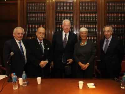 Gustavo Zunino, José Osvaldo Casás, Enrique G. Bulit Goñi, Mónica Pinto y Rubén Asorey