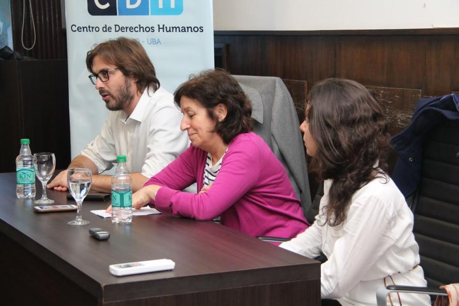 Martín Sigal, Laura Ginsberg y Lucila Galkin