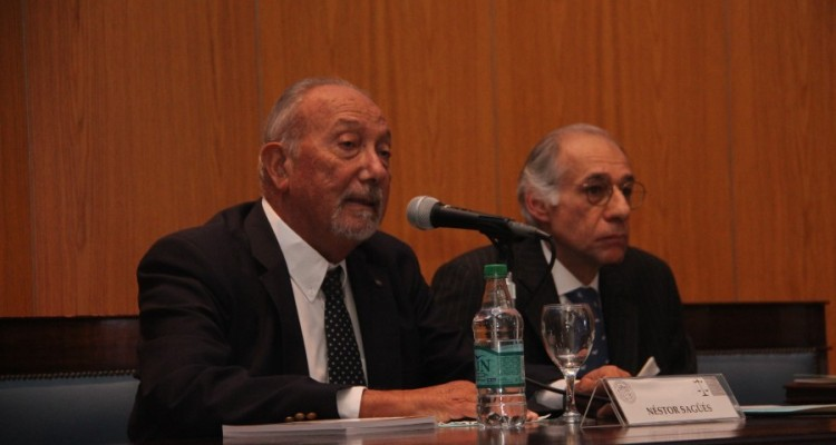Néstor Sagüés y Alberto Bianchi