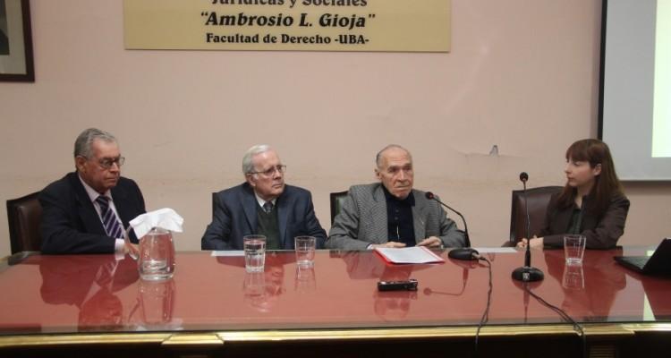 Rodolfo Rivarola, Tulio Ortiz, Abelardo Levaggi y Verónica Lescano Galardi