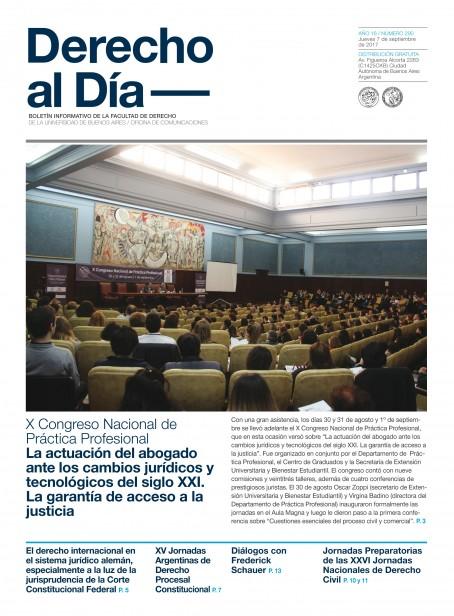 Tapa de Derecho al Día - Edición 290