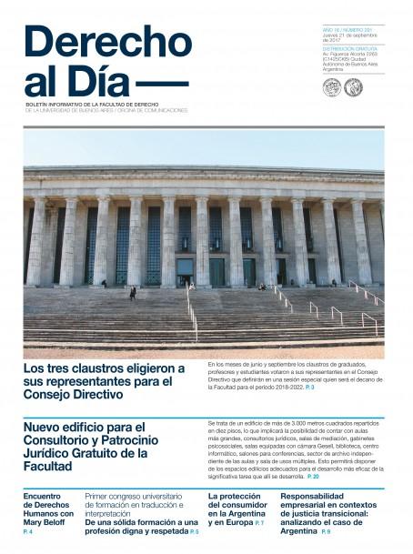 Tapa de Derecho al Día - Edición 291