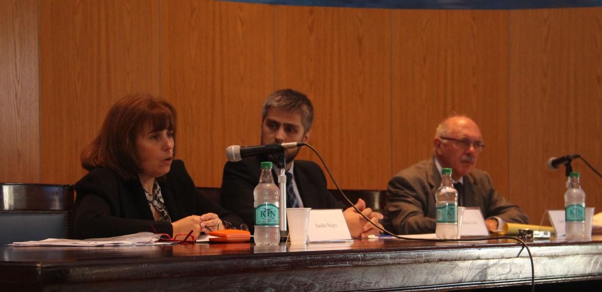Sandra Negro, Matías Crolla y Gabriele Orcalli