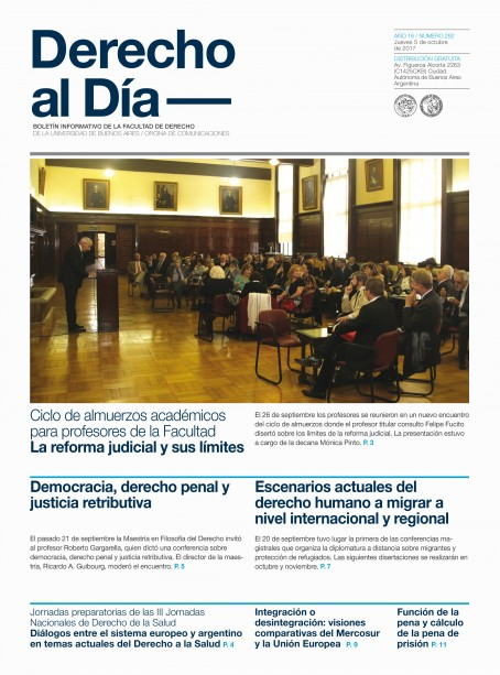Tapa de Derecho al Día - Edición 292