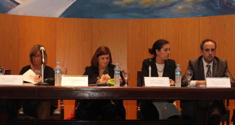 María Alejandra Merlo, Claudia Celerier, María Luisa Storani, Jazmín Blanchimann, Agustín Fabbricatore y Andrea Mensa