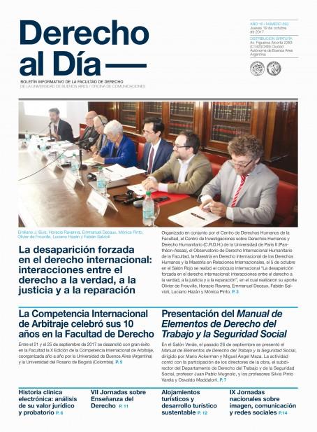 Tapa de Derecho al Día - Edición 293