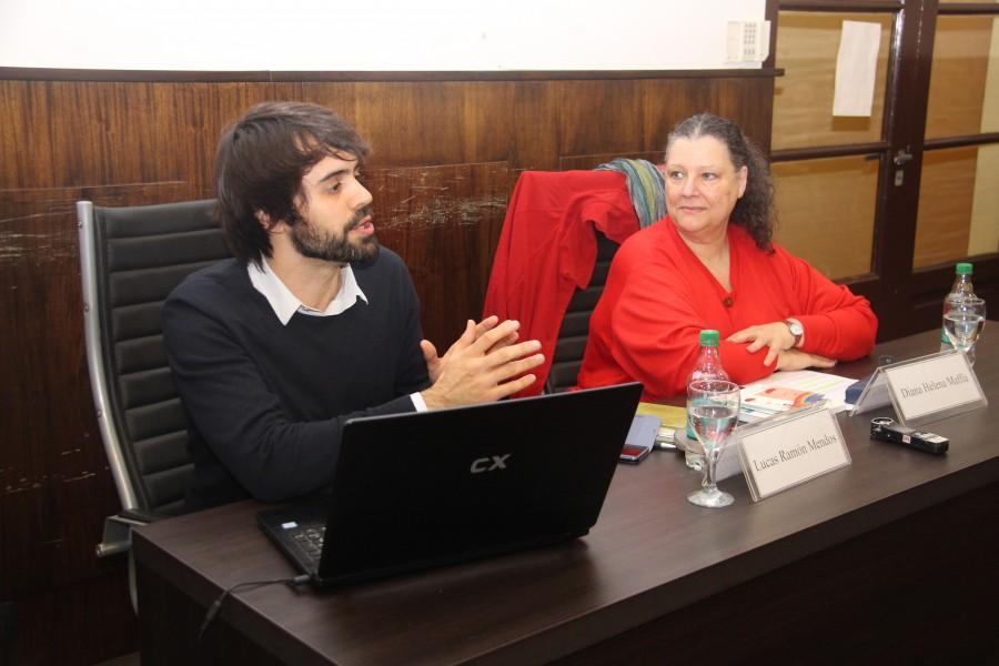 Lucas Ramón Mendos y Diana Maffía