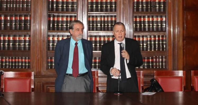 Antonio Embid Irujo y Néstor Cafferatta