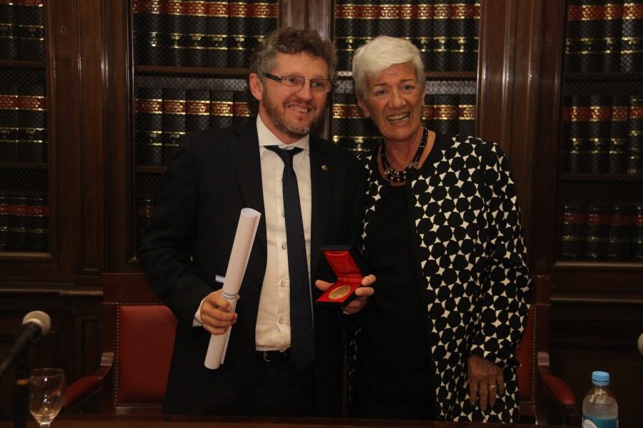Fabián Salvioli y Mónica Pinto