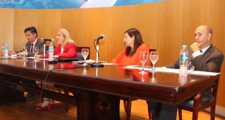 Miguel Ángel Vidal, Catalina García Vizcaíno, Lorena Bartomioli y Adrián Míguez