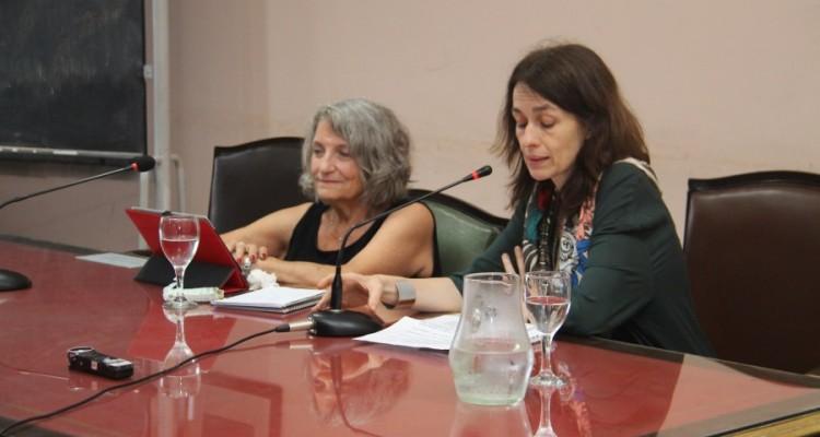 María Jesús Izquierdo y Laura Pautassi