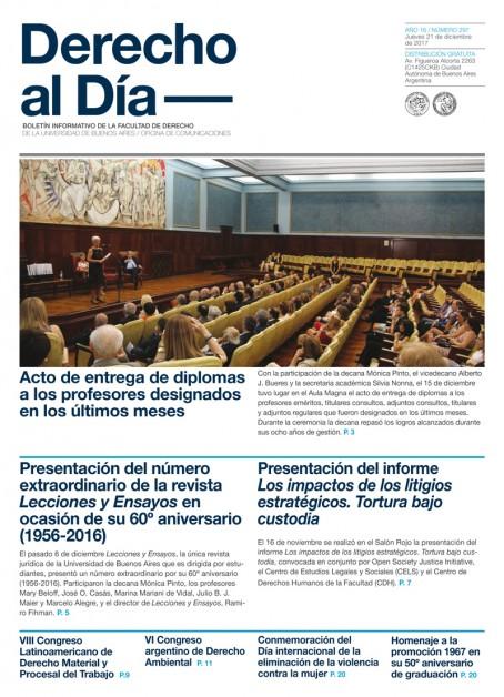 Tapa de Derecho al Día - Edición 297