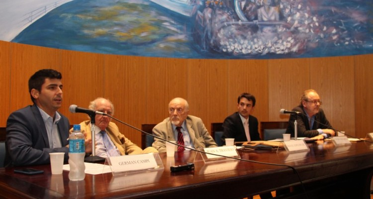 Germán Campi, Juan A. Travieso, Miguel Ángel Espeche Gil, Guido Demarco y Fernando Sotelo