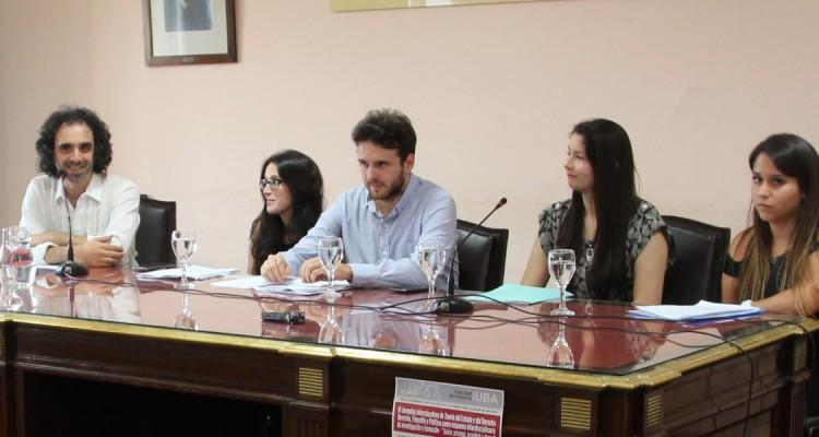 Gonzalo S. Aguirre, Tamara Peñalver, Camilo Heller, Mirian Benítez y Carolina Fulqueri