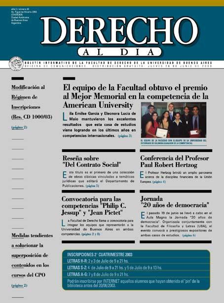 Tapa de Derecho al Día - Edición 30