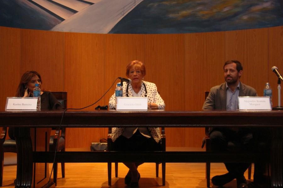 Karina Barreiro, Graciela Güidi y Alejandro Román Márquez