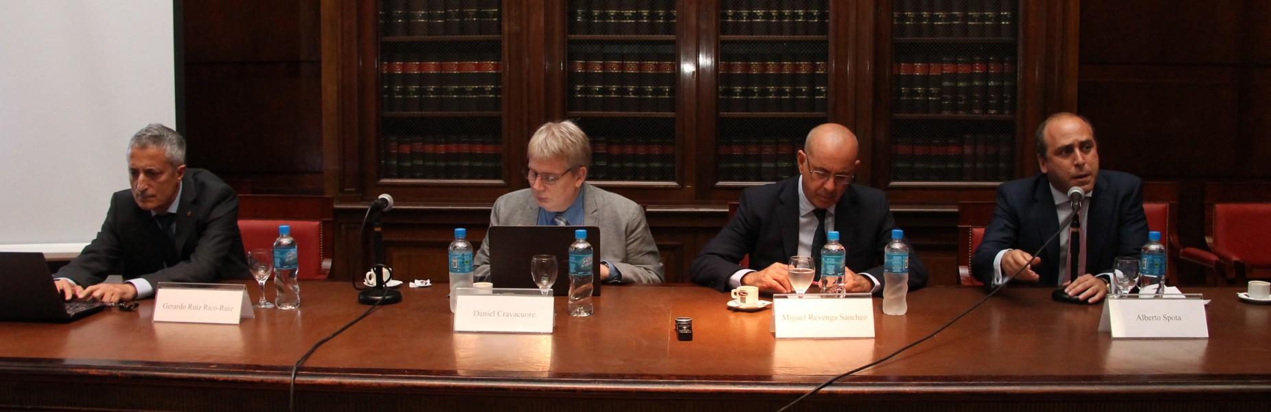 Gerardo Ruiz Rico-Ruiz, Daniel Cravacuore, Miguel Revenga Sánchez y Alberto Spota