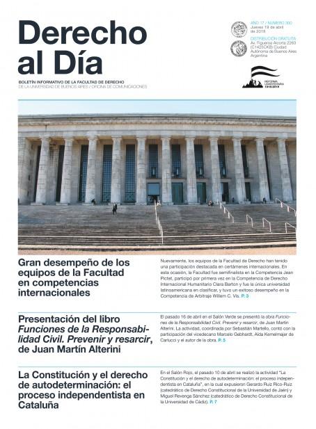 Tapa de Derecho al Día - Edición 300