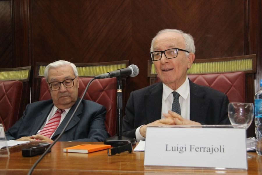 Ricardo Guibourg y Luigi Ferrajoli