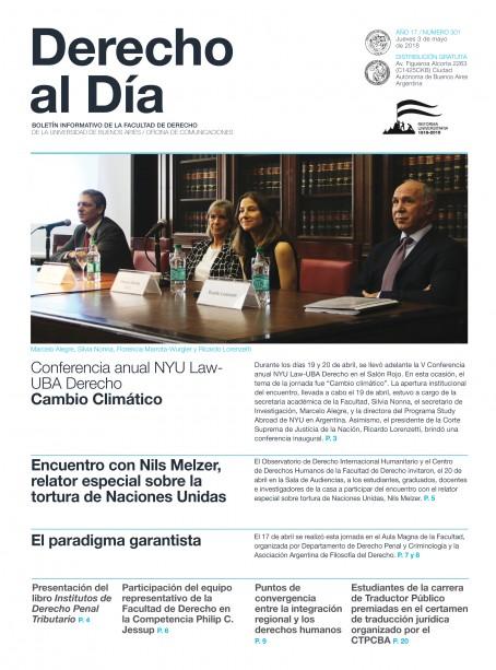 Tapa de Derecho al Día - Edición 301