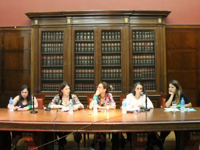 Cecilia Hopp, Liliana Ronconi, Marisa Herrera, Romina Faerman y Victoria Beltrán Flores