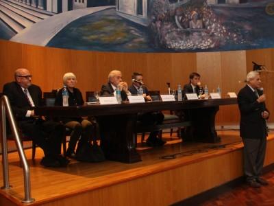 Pablo Vadori, Zelmira Bottini, Jorge Berbere Delgado, Juan Pablo Alonso, Nicolás Laferriere y Enrique Zuleta Puceiro