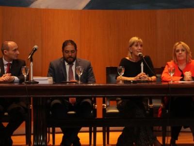 Alejandra Tevez, Mario Luís Gambacorta, Arnulfo Sánchez García, Silvia Nonna, Celia Weingarten y Graciela Lovece