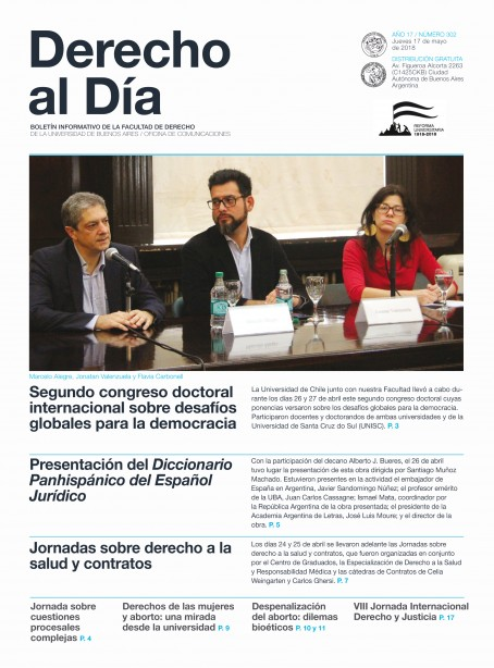 Tapa de Derecho al Día - Edición 302