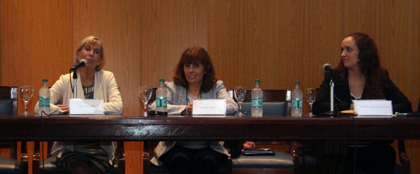 Silvia Nonna, Sandra Negro y María Verónica Laroca