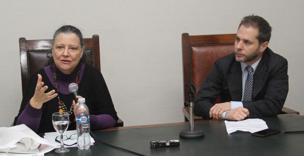 Diana Maffía e Ivan Tolnay