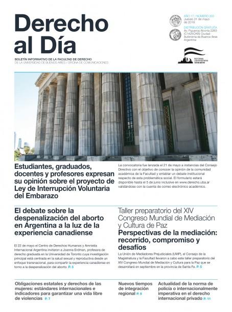 Tapa de Derecho al Día - Edición 303